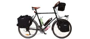 A verdadeira bike de cicloturismo (Imagem de Guilherme Burgos para ensaio para a Pediverde)